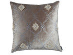 Lili Alessandra Audrey Square Pillow - Fawn Velvet / Silver Print
