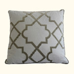 Dransfield and Ross Alhambra Mist Fretwork Decorative Pillow