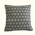 Dransfield and Ross House Alhambra Mist Zigzag Decorative Pillow - Square