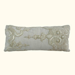 Dransfield and Ross House Corcovado Beaded Oblong Decorative Pillow - Ivory