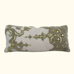 Dransfield and Ross House Corcovado Beaded Oblong Decorative Pillow - Pearl