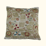 Dransfield and Ross House Corcovado Embroidered Square Decorative Pillow - Gold