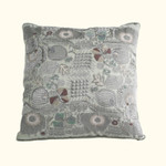 Dransfield and Ross House Corcovado Embroidered Square Decorative Pillow - Silver