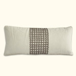 Dransfield and Ross House Elizabeth Street Rickrack Oblong Decorative Pillow