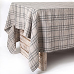 Pom Pom at Home Bistro Checker Tablecloth - Natural/Grey