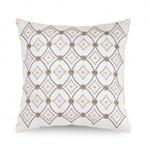 Downton Abbey Crawley Geometric Embroidered Decorative Pillow
