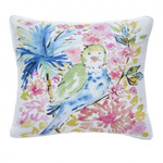Dena Home Chinoiserie Garden Tropical Bird Decorative Pillow