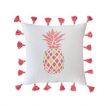 Southern Tide Coastal Ikat Embroidered Pineapple Decorative Pillow