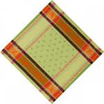 Jacquard Weave Cotton Napkin - Citrus Green