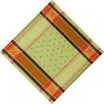 Jacquard Weave Cotton Napkin - Citrus Green