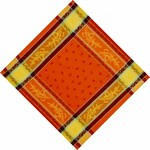 Jacquard Weave Cotton Napkin - Citrus Orange
