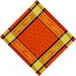 Jacquard Weave Cotton Napkin - Citrus Orange