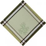 Jacquard Weave Cotton Napkin - Olive Green