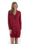 Bamboo Dreams® Lainey Nightshirt - Cranberry