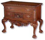 Laurel Crown Chippendale Lowboy