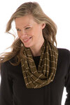 BambooDreams® Infinity Scarf - Cypress/Sand Stripe