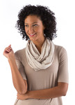 BambooDreams® Infinity Scarf - Sand Micro Stripe
