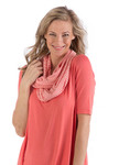 BambooDreams® Infinity Scarf - Coral Micro Stripe