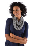 BambooDreams® Infinity Scarf - Navy Micro Stripe