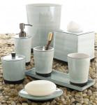 Kassatex Tribeka Porcelain Bath Accessories - Seafoam