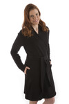 BambooDreams Shiloh Sweatshirt Robe - Black