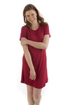 BambooDreams Betsy Nightshirt - Cranberry