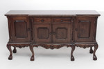 Laurel Crown Chippendale Sideboard with Ball and Claw Feet