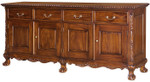Laurel Crown Chippendale Four Door Buffet
