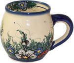 Boleslawiec Polish Pottery Bubble Mug - Wild Field