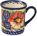 Boleslawiec Polish Pottery Coffee Mug - Flower Field