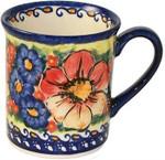 Boleslawiec Polish Pottery Coffee Mug - Flower Field