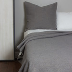 Amity Home Orlana Lurex Cotton Coverlet - Grey