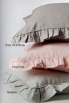 Amity Home Basillo linen Duvet Cover - Grey Chambray