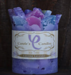 "Luscious Lavender Scented Pillar Gem Top Candle - 4""x5"""
