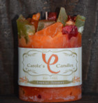 "Tropical Treature Scented Pillar Gem Top Candle - 4""x5"""
