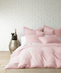 Levtex Washed Linen Duvet Cover - Blush