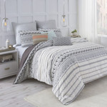 Under The Canopy Abstract Aztec White/Black Comforter Set