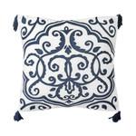 "Dena Atelier Indigo Dream 16""W x 16""L Embroidered Decorative Pillow"