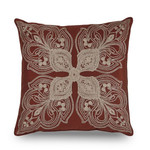 "Downton Abbey Grantham 18""W x 18""L Embroidered Decorative Pillow"