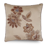"Downton Abbey Grantham 18""W x 18""L Floral Embroidered Decorative Pillow"