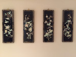 4 Piece Bird and Floral  Wall Décor Set