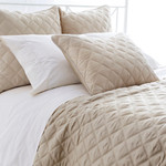 Pine Cone Hill Quilted Silken Solid Sand Coverlet