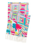 Pine Cone Hill Geo Floral Linen Bright Throw