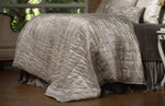 Lili Alessandra Moderne Quilted Personal Blanket - Ivory Velvet with Silver Print