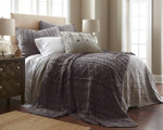 Amity Home Micah Knitted Coverlet - Steel Grey