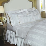 DownTown Company Jacquard Blossom/Stripe Duvet Cover