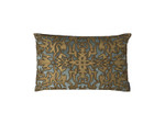 Lili Alessandra Alexandra Small Rectangle Pillow - Slate Velvet/Gold Print/Gold Beads