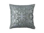 Lili Alessandra Alexandra Square Pillow - Slate Velvet/Silver Print/Silver Beads