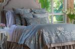 Lili Alessandra Emily Gathered Bedskirt - Stone Linen