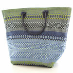 Fresh American Le Tote Fiesta Stripe French Blue/Green Tote Bag - Moyan